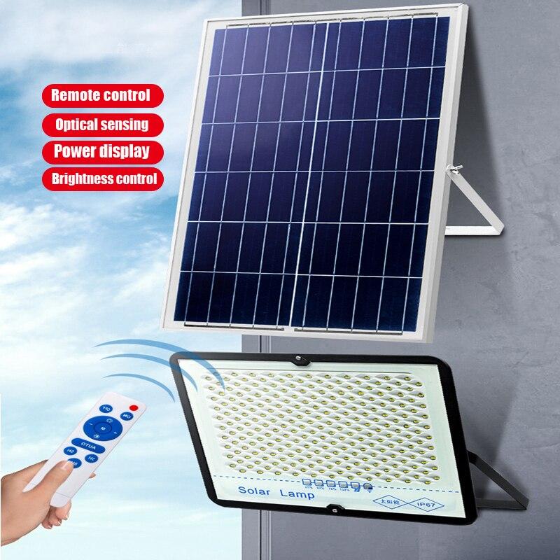 A2 Solar Light Super Bright Solar Lamp15w 5000mA Battery Wireless Outdoor Garden Waterproof Large Solar Panel Light