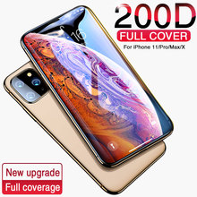 200d 강화 된 보호 유리에 대한 아이폰 11 프로 x xr xs 최대 전체 화면 보호기 아이폰 11 7 8 플러스 6 6 s 유리 필름