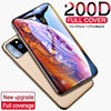 Protective glass on For iPhone 11 7 6 6S 8 5S Plus Full Cover for iPhone 11 X XR MAX Screen protector Glass on iPhone 11 Pro MAX