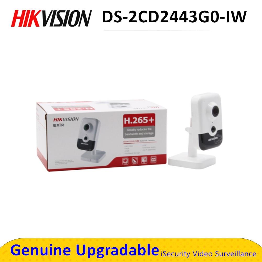 La version anglaise originale 4MP IR Cube réseau caméra DS-2CD2443G0-IW remplacer DS-2CD2442FWD-IW CCTV IP wifi IPC