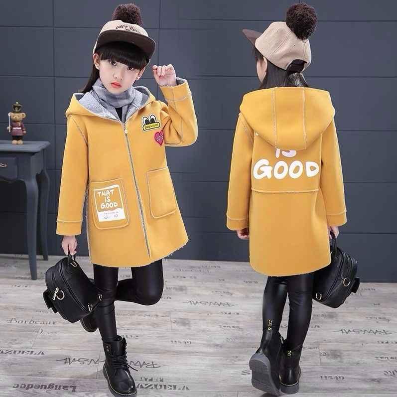 Детские шерстяные пальто для девочек, Тренч, блейзер, верхняя одежда для маленьких девочек 2019, шерстяное пальто с капюшоном для девочек, верхняя одежда парки