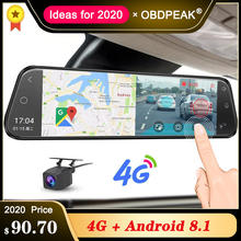 "4G Auto Dvr 10 ""Android 8.1 Stream Achteruitkijkspiegel Fhd 1080P Adas Dash Cam Camera Video Recorder auto Registrar Dashcam Gps Dvr(China)"