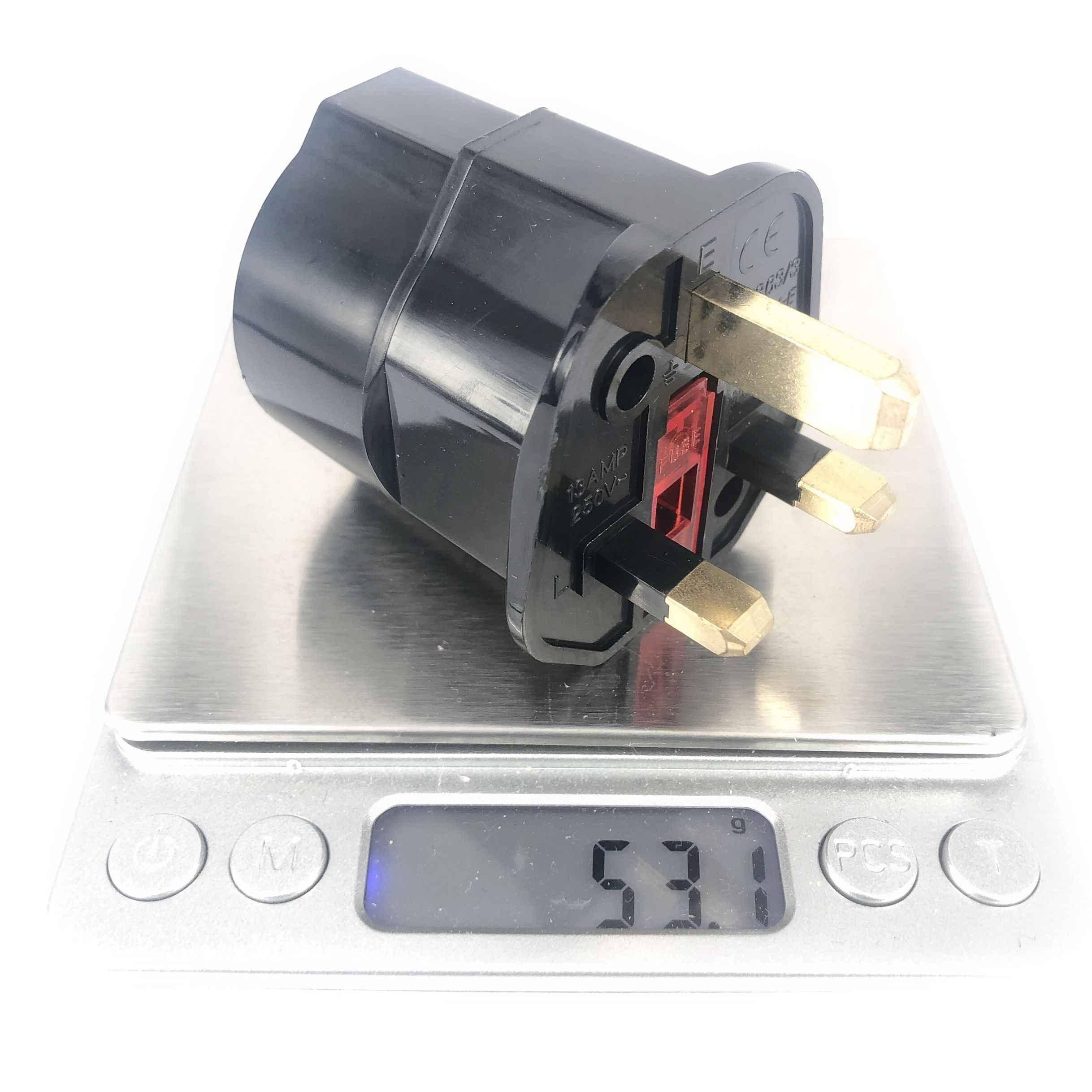 ЕС ЕВРО 2 Pin английская вилка с 3 зубцами Универсальный адаптер переменного тока для путешествий конвертер в европейском стиле