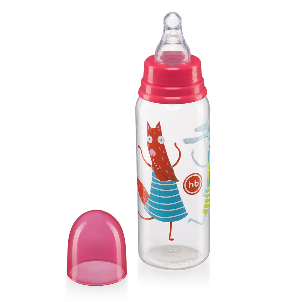 Bottles Happy Baby 10023 Feeding Bottle Feeding Bottle Drinking Cup Baby For Children Boys And Girls Newborn Ruby  250ml
