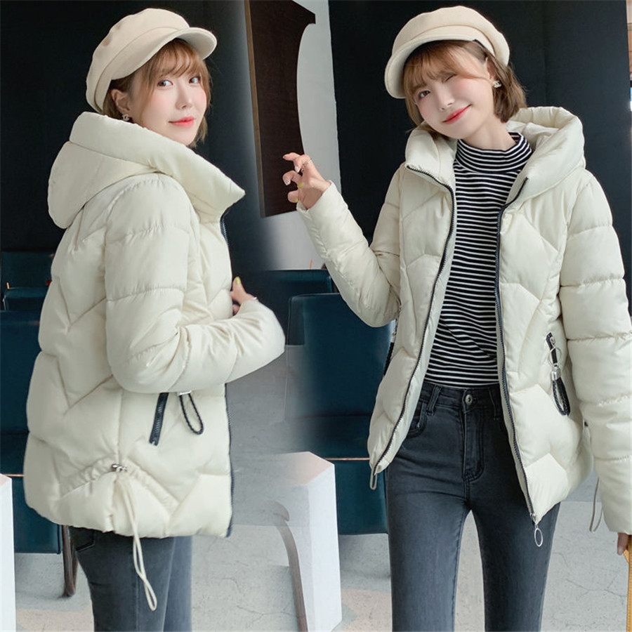 6XL Women Short   parkas   jacket Autumn Winter Casual hooded   parkas   coat bat sleeved style female winter warm sintepon jacket