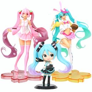 13-24cm Anime Pink Hatsune Miku Sakura Action Figures Toys Miku Speelgoed Girls PVC Figure Model Toys(China)