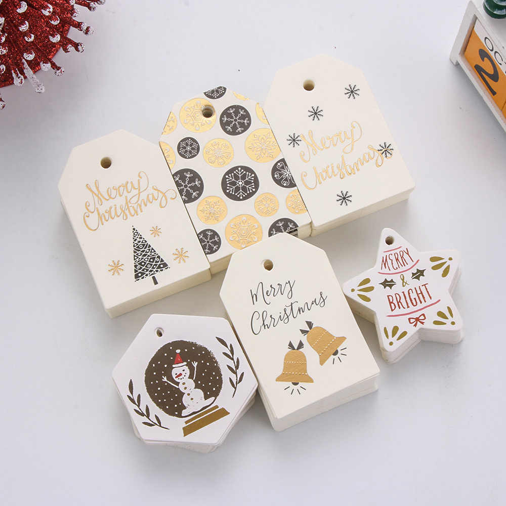 Details about  /Supplies Xmas Decoration Kraft Tag Gift Wrapping Christmas Labels Hang Tags