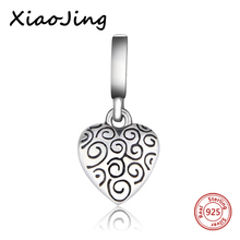 Hot sale Silver 925 Beads Love Heart charms DIY pendant Beads Fit Original Pandora Bracelets Jewelry Making for women Gifts