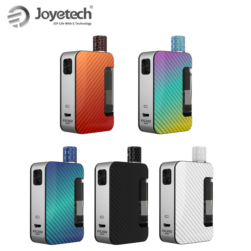 Original Joyetech Exceed Grip Kit Built In 1000mAh &EX-M Coil RBA Coil VS Drag Nano E-Cigarette Vaporizer Pod Vape Kit
