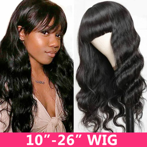 Image 3 - ガブリエル人毛ウィッグ黒人女性ショート前髪remy 30インチフル機メイドかつら