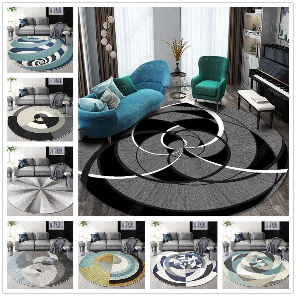 New Nordic Series Round Carpets For Living Room Home Decor Carpet Kids Room Play Floor Mat Child Bedroom Computer Chair Area Rug