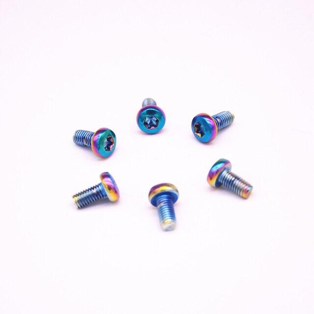 12Pcs M5x10mm bike disc brakes Rotor plating color steel Screw Bolts Torx T25 Head