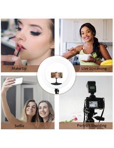 """Image 5 - LED حلقة مصباح 10 """"14"""" 18 """"22"""" عكس الضوء Selfie مصباح مصمم على شكل حلقة 3200 5600K مع حامل ثلاثي القوائم التصوير الفوتوغرافي الإضاءة لفيديو يوتيوب"""