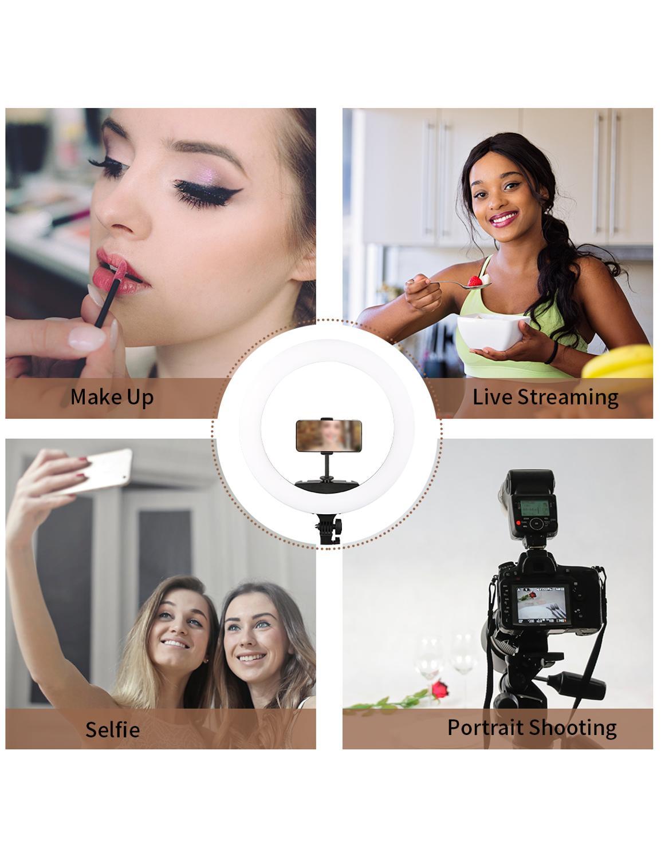 Top SaleRing-Lamp Photographic-Lighting Phone-Video Dimmable Photo-Studio Selfie 3200-5600K Stepless