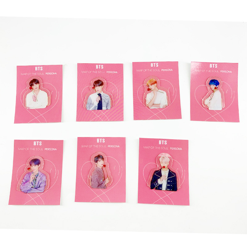 BTS Bulletproof Boys New Album Concert Celebrity Style Transparent Bookmark Book Holder Clip Bookmark Clip Related Products