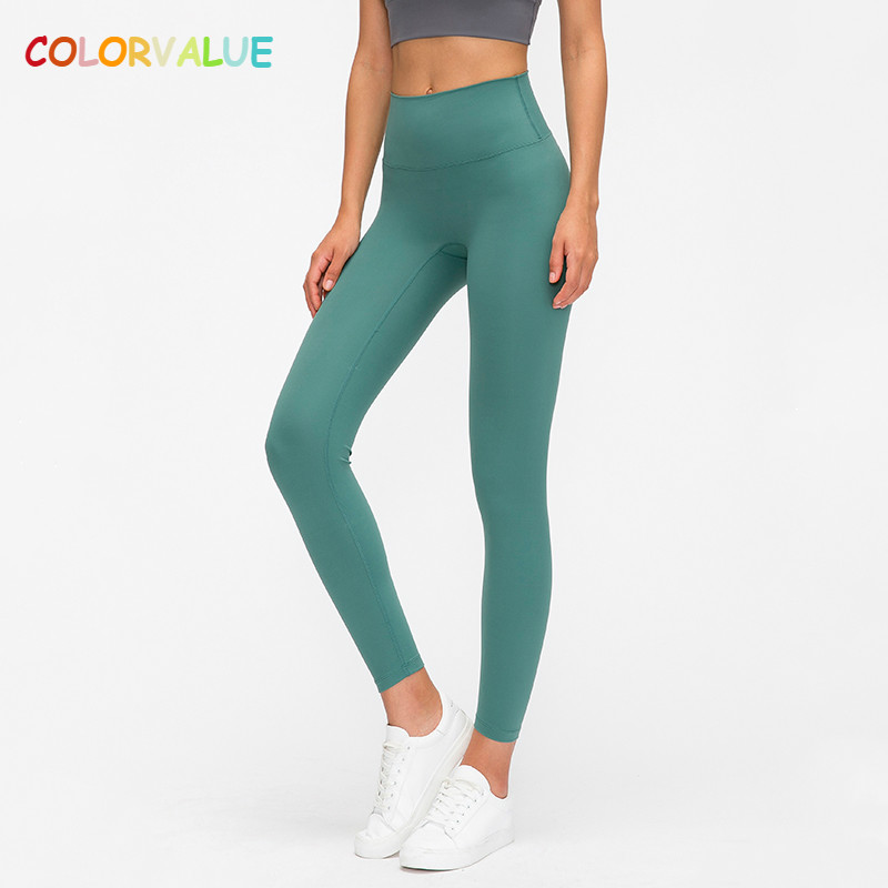 Colorvalue Classical 3.0 Version Soft Naked-feel Workout Gym Yoga Tights Women Squatproof High Waist Fitness Sport Leggings XS-L 1