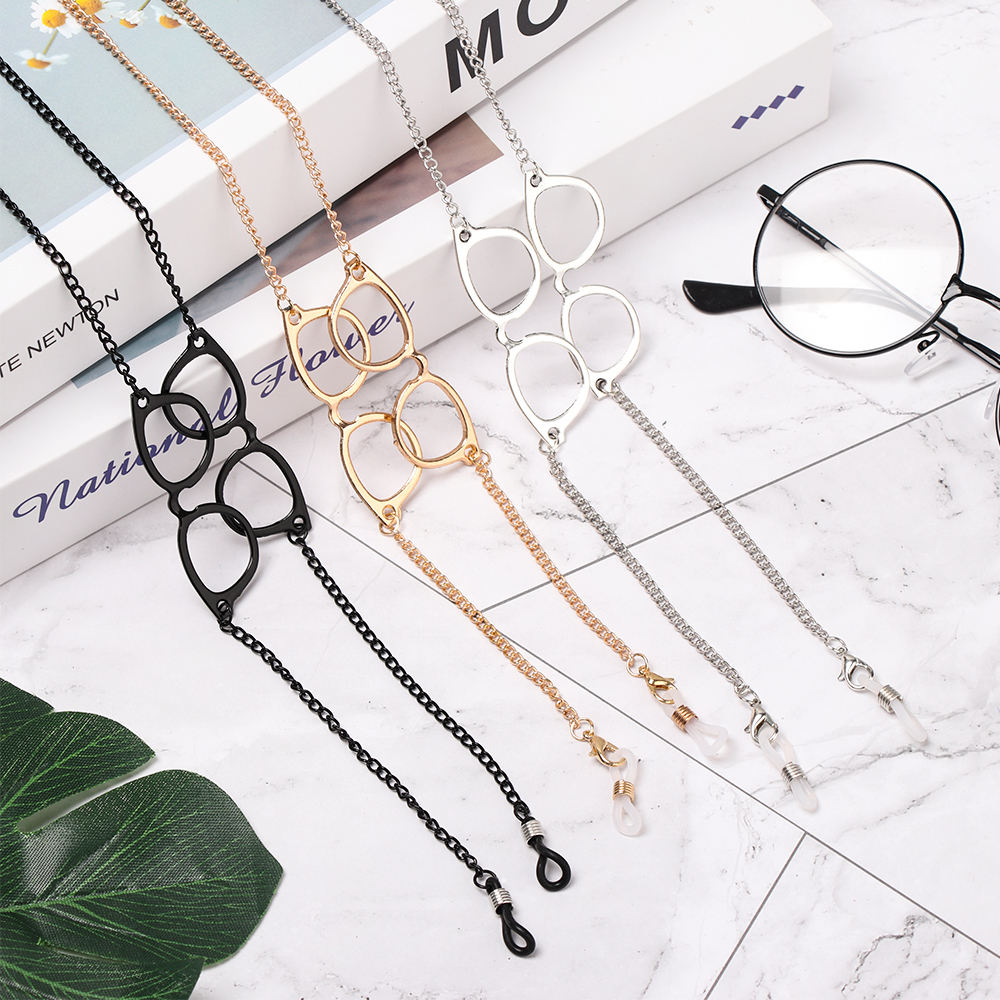 Women 1Pc Reading Glasses Chain For Metal Gold Sunglasses Cords  Eyeglass Lanyard Hold Straps Spectacles Shaped Eyewear Holder