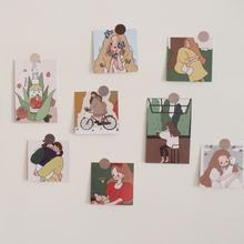 Популярная художественная ретро открытка ins с изображением
