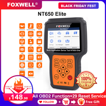 Foxwell NT650 Elite OBD2 Car Diagnostic Tool Engine ABS SRS Airbag 20 Reset function Auto Scanner Automotivo OBD 2 Code Reader launch cr619 obd2 car diagnostic tool engine abs srs airbag read clear error code auto scanner launch obd 2 scanner free update