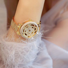 Серебряные женские дизайнерские часы бренда в Стразы Полный