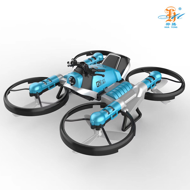 2 in 1 Deformation RC Folding Motorcycle 2.4G WIFI Remote Control Motor Bike Folding 4 Axis 0.3MP WiFi camera Drone