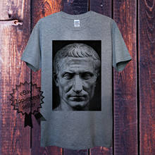 Simple Cotton T-Shirt Julius Caesar T-Shirt For Men Women Unisex Roman Dictator Political Historical O-Neck T Shirt Men(China)