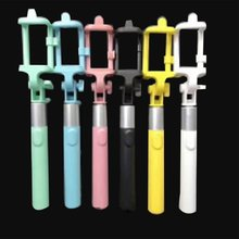 цена на Handhold Self-timer Rod Extendable Stand Wired Mobile Phone Monopod Remote Control