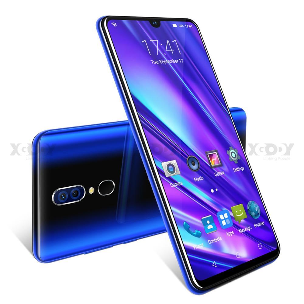 "XGODY 9T Pro 6.26"" 19:9 Smartphone Android 9.0 2GB 16GB Waterdrop Screen Mobile Phone MTK6580 Quad Core Dual Sim GPS 5MP 2800mAh"