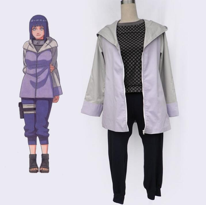 Custom Made Japanese Anime NARUTO Hyuga Hinata The Third Generation Cosplay Costume Performance Woman Suits
