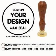 Sceau de cire personnalisé avec votre propre Logo, différents modèles de tête de tampon, tampons transparents de 25mm, 30mm, 40mm,50mm pour votre choix