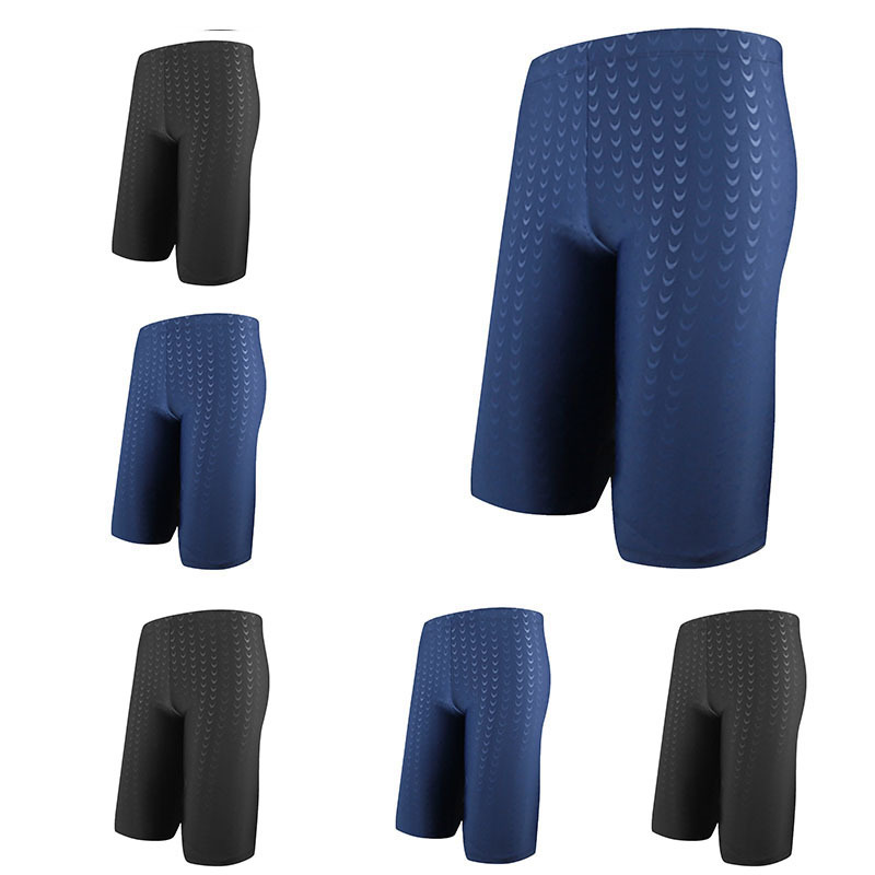 [Shark Skin Fabric] Swimming Trunks MEN'S Fifth Pants Quick-Dry Adult Bathing Suit Breathable Large Size Swimming Trunks Yk793