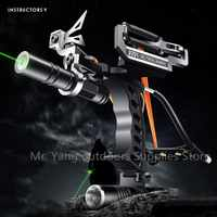 Tirachinas de pesca de caza elástico de alta calidad, arco de tiro de precisión y soporte de flecha, arco de pescado de tiro láser, nuevo