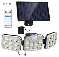 Solar Motion Lichter Outdoor 138 LED mit Fernbedienung 360 ° Drehbare IP65 Wasserdichte Sicherheit Verdrahtete Wand licht für Hinterhof