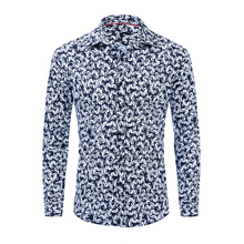 2019 European And American Mens New Cotton Spring Summer Long-sleeved Shirt Personality Pattern