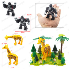 Pet Little White Cat Building Blocks Piece Animal Set Lot Diy City Forest Figures Girl Boy Moc Christmas Birthday Gifts Toys