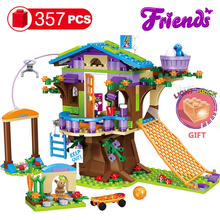357pcs Friends Adventure Camp Tree House Emma Mia Build Bricks Figure Toy for Children Compatible with lys for Girls