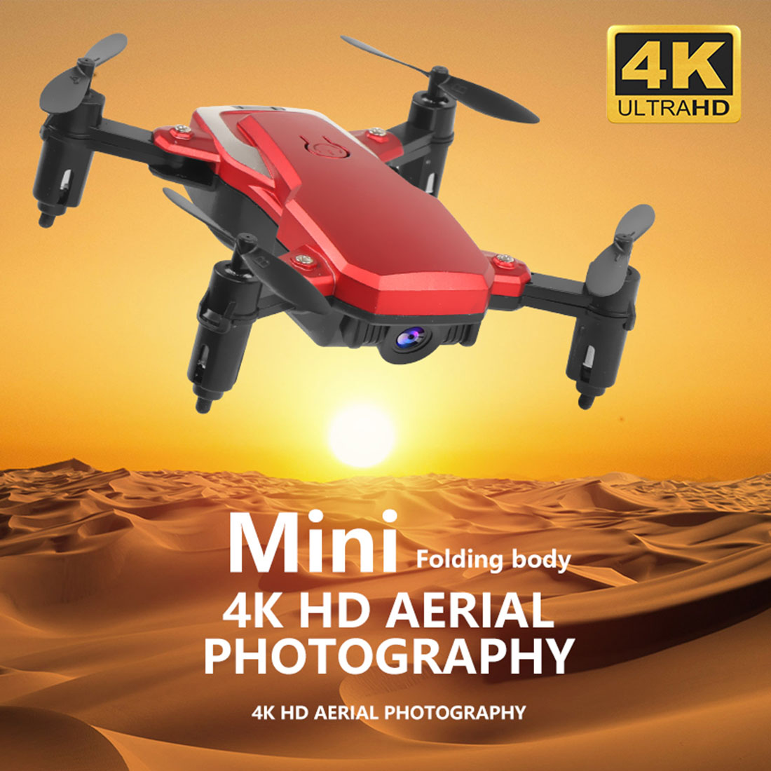 Foldable Mini Drone K1 WiFi FPV HD Camera 0.3MP 2.0MP 5.0MP 4K Altitude Hold Aerial Video 3D Flips RC Quadcopter Kids Toy