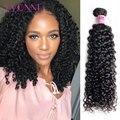 Yvonne 3C 4A Maleisische Krullend Virgin Haar 3 Bundels Menselijk Haar Weave Natuurlijke Kleur