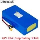LiitoKala 48V 20ah 13s6p Lithium Akku 48V 20AH 2000W elektrische fahrrad batterie Gebaut in 50A BMS XT60 stecker