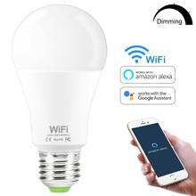 15W Smart WiFi żarówka E27 B22 lampa LED z możliwością ściemniania APP inteligentne obudzenie nocne światło kompatybilne z Amazon Alexa Google Home tanie tanio YEMEKE Zimny biały (5500-7000 k) 2835 Salon AC 85-265V 1000-1999 Lumenów Globe 50 000 0 28m Żarówki led Bubble ball żarówki