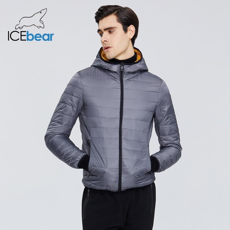 ICEbear 2020 New Lightweight Men's Down Coat Stylish Casual Men Jacket Male Hooded Jacket Brand Men Clothing MWY19998D