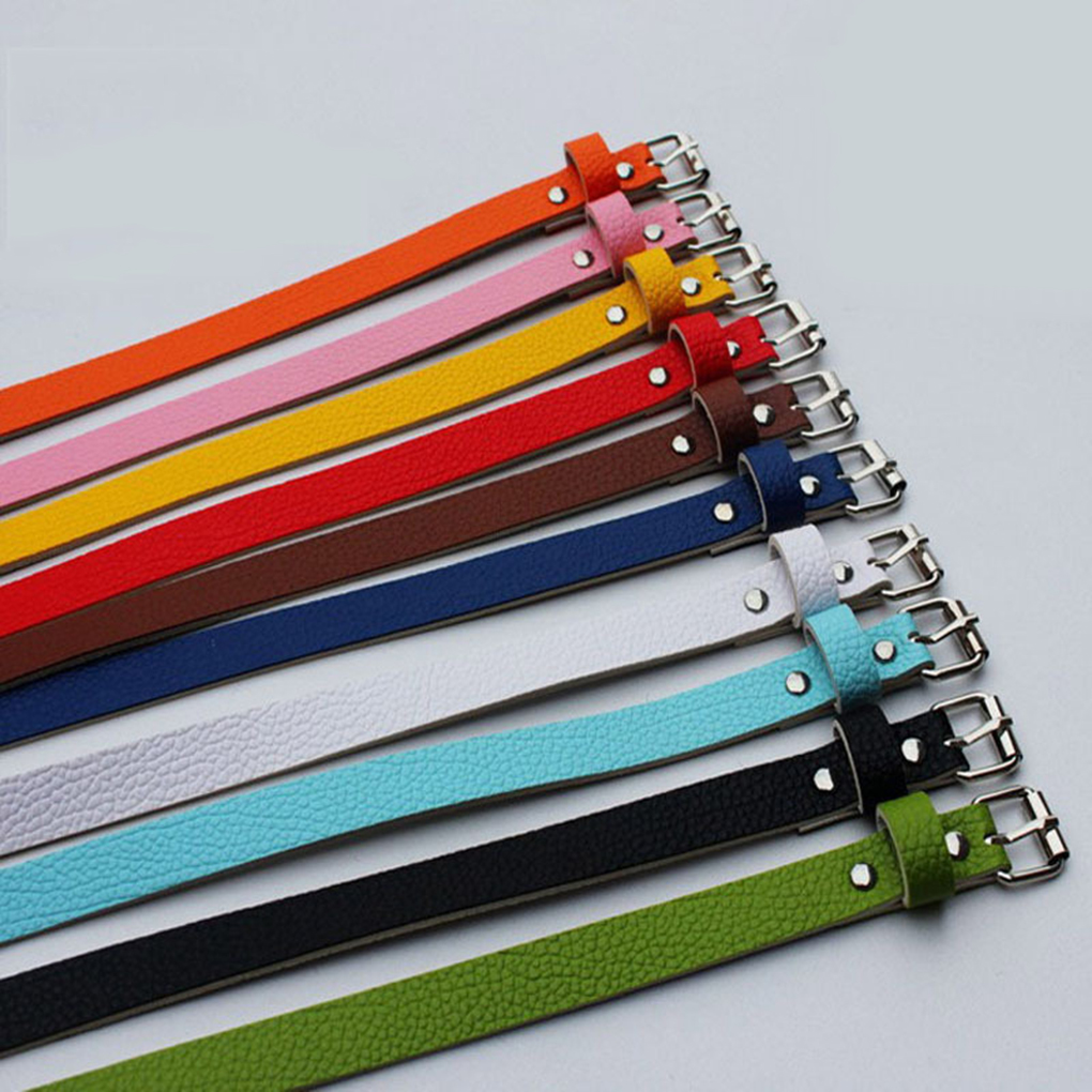 Girls Women Belt Thin Leather Women Dress Accessories Candy Color Leather Waistband Belt Metal Buckle