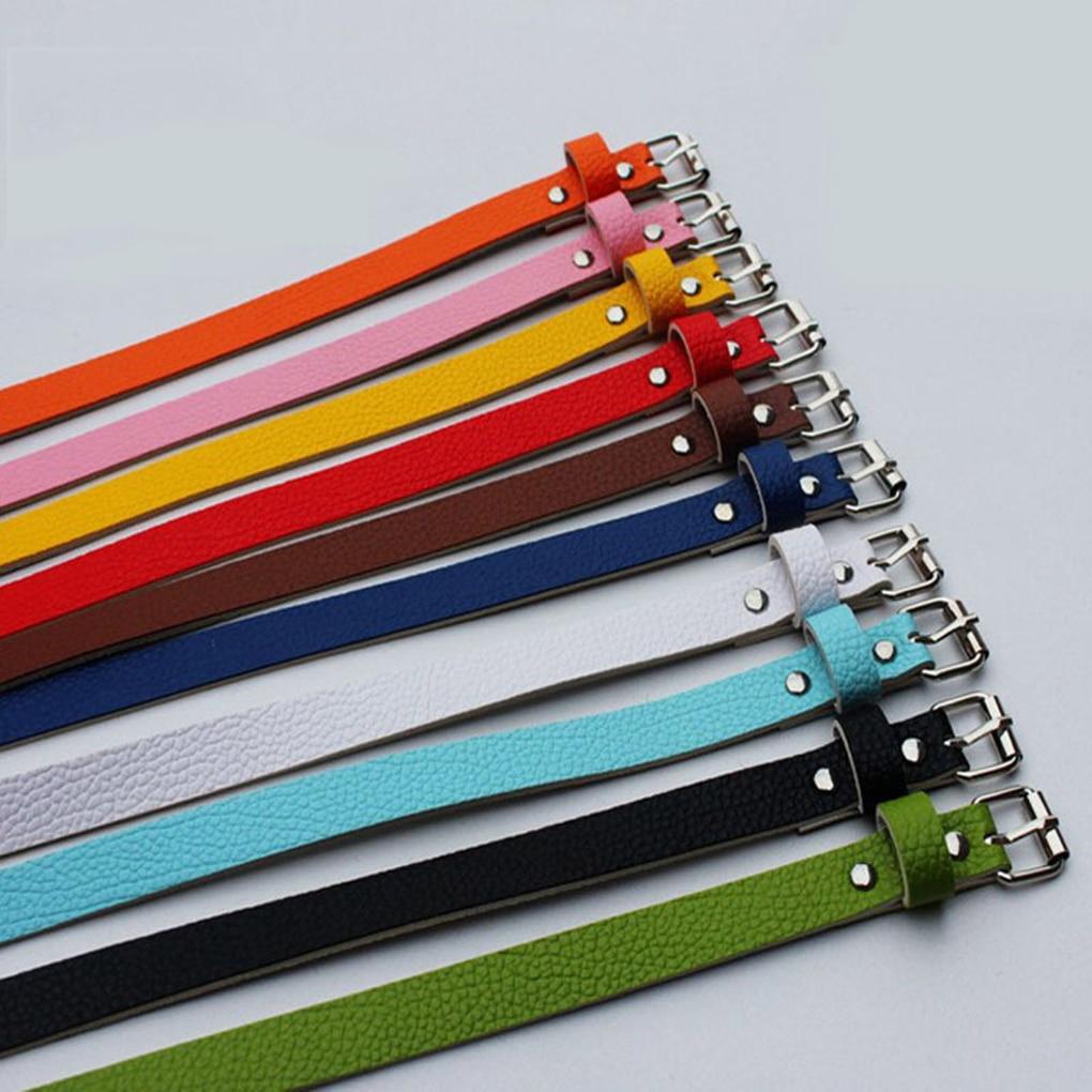 Girls Women Belt Thin Leather Women Dress Accessories Candy Color Leather Waistband Belt Metal Buckle
