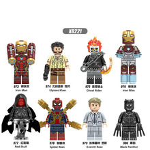 X0221 Single Sale Super Heroes Iron Man Collection Red Skull Figures Black Building Blocks Bricks Action Toys For Children