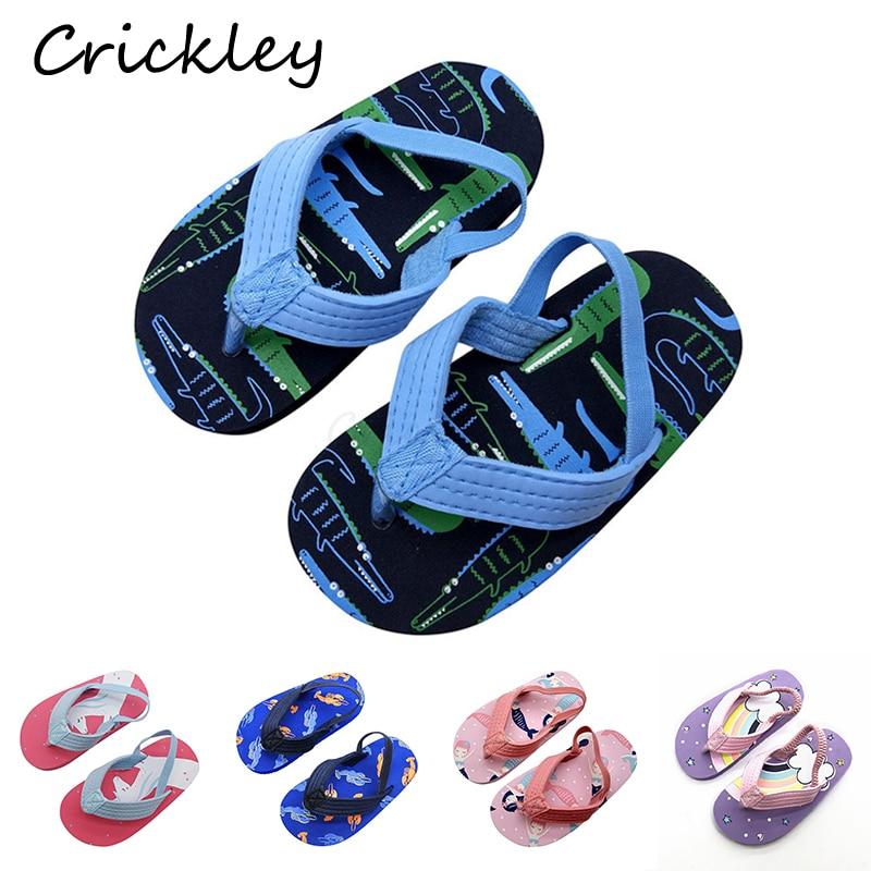 High Quality Toddler EVA Slippers Lovely Cartoon Tightness Beach Shoes For 1-6 Years Kids Boys Girls Light Soft Non Slip Slipper