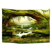 Tapestry Art Mystic Trees and River Print Tapestry Wall Hanging Decor Home Room Tapestry Drop shipping цена 2017