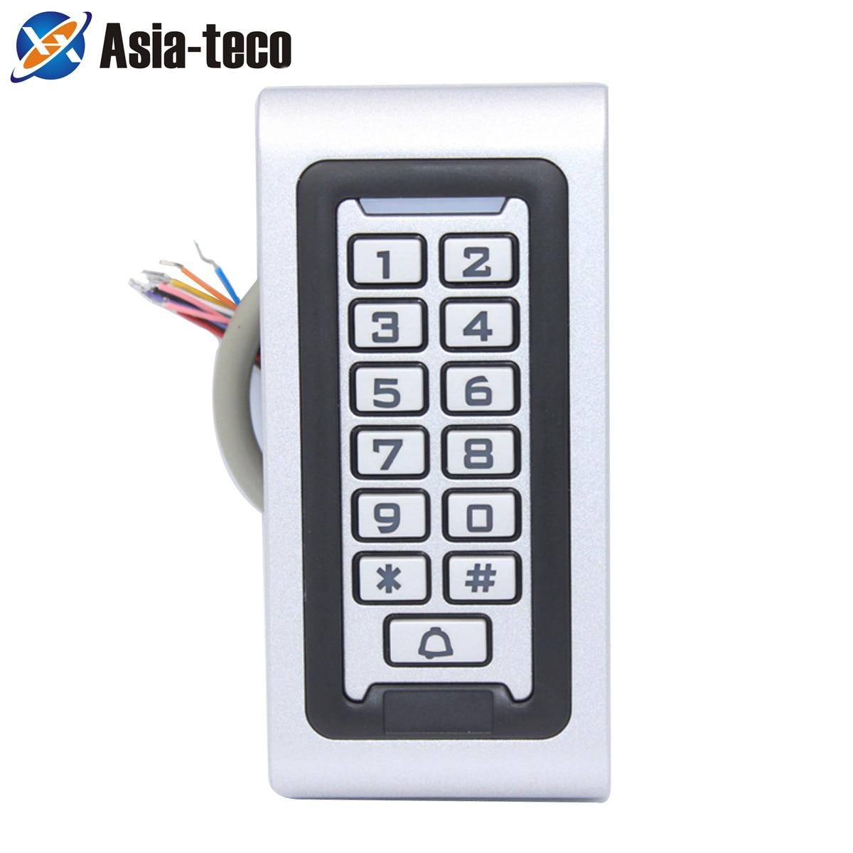 Waterproof Backlight RFID Door Access Control Reader Keypad 1000 Users Door Bell 125KHz EM Card Door Opener