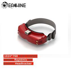 Eachine EV300O 1024x768 5.8Ghz 48CH OLED HD 3D FPV lunettes diversité avec le nouveau récepteur Rapidmix RX intégré DVR Headtracker