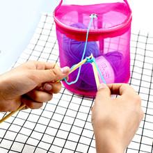 Nowa siatkowa torba lekka przenośna przędza szydełkowa przechowywanie nici organizator Tote tekstylne przechowywanie narzędzi torba pulpit przechowywanie # p30 tanie tanio ISHOWTIENDA CN (pochodzenie) 3 drutu Szafa Ekologiczne Włókniny tkaniny Trójwymiarowy typu Prostokątne Odzież 80*60*40 cm