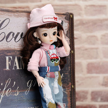 1/6 Fashion Princess BJD Dolls With Clothes 30 CM Princess Dress Skirts Dress up Makeup BJD Dolls Toys For Girls Gifts